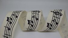 Musical Notes Ribbon 20mm, priced per metre