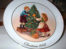"Collectable Avon Christmas 1982 ""Keeping The Christmas Tradition"" Plate"