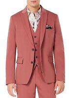 INC Men's Blazer Pink Size 3XL Big Slim Fit Peak Lapel 2-Button $129 #168