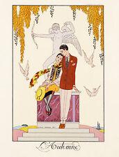 George Barbier Vogue Illustration  1920s 8 x 10 Giclee Print