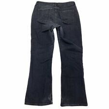 Women's Riders by Lee Mid Rise Straight Leg Stretch Denim Gray Jeans Size 14P