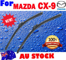 Pair Frameless Windscreen Wiper Blades For MAZDA CX9 CX 9 2006 - 2015