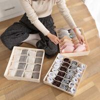 Closet Organizer Box for Underwear Bra Socks Ties Scarves Storage Divider Empty