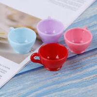 3x 12 mm Casa delle Bambole Miniatura rosa smaltata in Ceramica Tazze Caffè