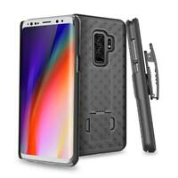 Samsung Galaxy S9, S9 Plus Case, Slim Rugged Holster Combo Clip Kickstand Cover