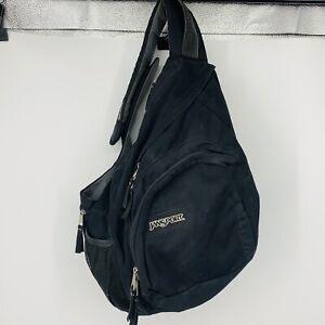 Jansport Airlift Padded Sling 1 Strap Black Backpack Bag