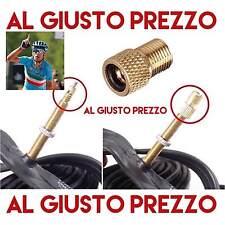Adattatore Valvola Bici Da Corsa. PRESTA a SCHRADER per Pistola Compressore