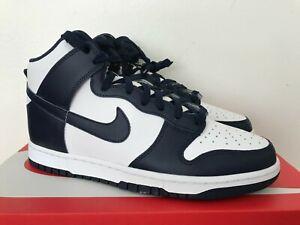 Size 10.5M New Mens Nike Dunk High Hi Retro White Midnight Navy DD1399-104