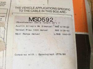 "Speedo Cable Austin Allegro Maxi  Vanden Plas [Later models]  1979-82 46"" MSD592"