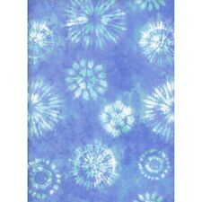 Fabric Baby Tie Dyed Stars on Blue Flannel 1/4 Yard