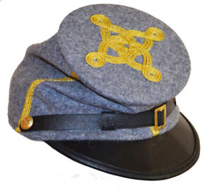 American Civil War Acw  Enlisted Union Cavalry Kepi With Badge XLarge 60//61cms