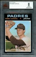 1971 topps #179 MIKE CORKINS san diego padres BGS BVG 8