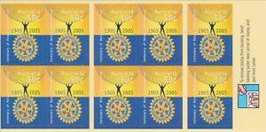 Australia Stamps Booklet 2005 Centenary Rotary International B275 Unfolded