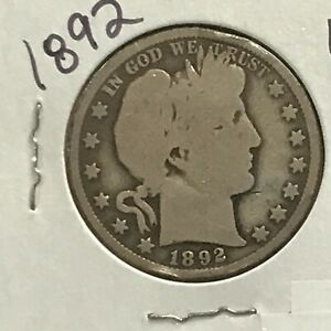 1892 Barber Silver Half Dollar First Year of Issue    E8561