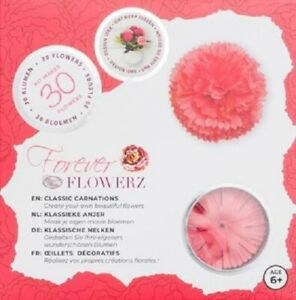 Craft Buddy Forever Flowerz Kit Classic Carnations - Pink  Makes 30 flowers NEW