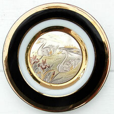 Vintage Japanese Simco Art Ware Art of Chokin Small Plate
