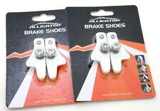 Alligator Road Bicycle Bike brake pads shoes catridge for Shimano, White, 2 pair