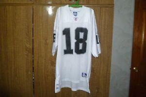Oakland Raiders Reebok NFL Jersey #18 Randy Moss Football Hip Hop NWA Size XL