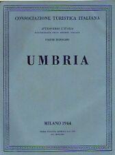 UMBRIA TOURING CLUB ITALIANO VOLUME XII 1944