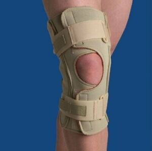 Swede-O Hinged Knee Brace, Open Wrap, Single Pivot, 5X-Large, Beige