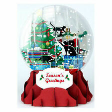 Christmas Kittens Snow Globe Pop Up Christmas Card by Up With Paper Brand New