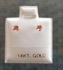 .27 TCW Rhodochrosite Earrings in 14kt Gold