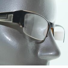 Bold Boss Chunky Red Black Top Frame Invisible Lens Reading Glasses +3.00 Lens