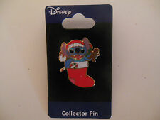 Disney Pin Trading Stitch in a  Christmas Stocking Limited Edition 2006