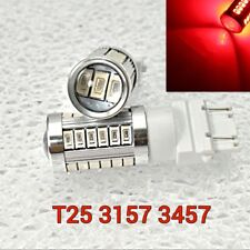 T25 3155 3157 3457 4157 33 SMD LED Red Front Signal M1 For Saturn A