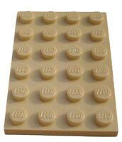 Lego 50 beige 4x6 Platten (3032) Neu Platte tan Plates Plate 4 x 6 New