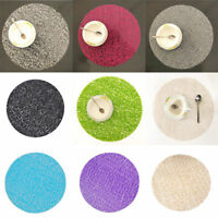 Circle Coasters EVA Crystal Dining Table Mat Non-slip Insulation Plate Placemats