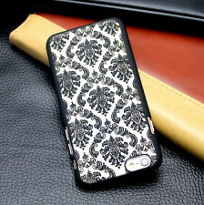 Rubberized Damask Vintage Pattern Matte Hard Case Cover For iPhone X 7 8 6 Plus