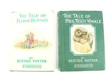 Beatrix Potter: The Tale of Flopsy Bunnies, Mrs Tiggy-Winkle Book Lot of 2 VTG