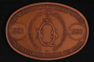 1996 Queensland Numismatic Society Newstead House Sesquicentenary Bronze Medal