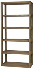 """84"""" T Wooden Bookcase Hand Crafted Solid Bali Teak Natural Wood Traditional"""