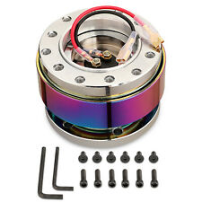 Universal Neo Chrome Steering Wheel Quick Release Hub Adapter Snap Off Boss Kit