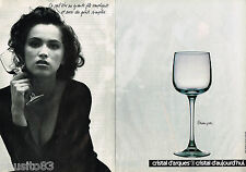PUBLICITE ADVERTISING 055  1988  CRISTAL D'ARQUES   verre BRIANCON  ( 2 pages)