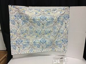 Pottery Barn Jessie Scroll Organic Cotton Percale STANDARD Bed Pillow SHAM