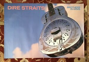 DIRE STRAITS  Brothers In Arms  rare original promotional poster  MARK KNOPFLER