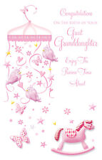 CONGRATULATIONS ON THE BIRTH OF YOUR GREAT GRANDDAUGHTER NEW BABY GREETING CARD