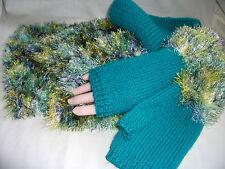 Hand-knitted Scarf & Fingerless Gloves Ref 938