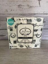Jacqueleen Paris Eiffel Tower Shabby Chic QUEEN 4 Pc Sheet Set 100% Cotton