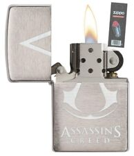 Zippo 29494 Assassins Creed Full Size Brushed Chrome Lighter + FLINT PACK