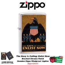 Zippo US Navy Is Calling Enlist Now, Genuine Windproof Lighter #29597