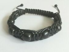 Shungite bracelet EMF protecting, brings health, magic stone, aura, shambhala