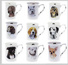 Personalised WITH ANY NAME BONE CHINA BEAKER MUG CUP Choice of dog breeds (A-P)