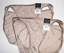 2 Vanity Fair String Bikini Set Panty Illumination 18108 Nylon 6 M Lt Brown NWT