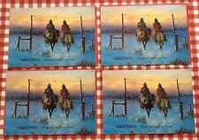 Lot Of 4 Vtg Leanin' Tree Cowboy Christmas Cards, Signed G Harvey, 1978, New