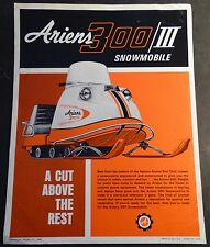 Rare Vintage Ariens 300/Iii Snowmobile Sales Brochure Single Page (605)