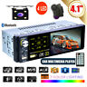 """HD 4.1"""" Single Din Car Radio MP5 Player Touch Screen Capacitive FM AUX + Camera"""